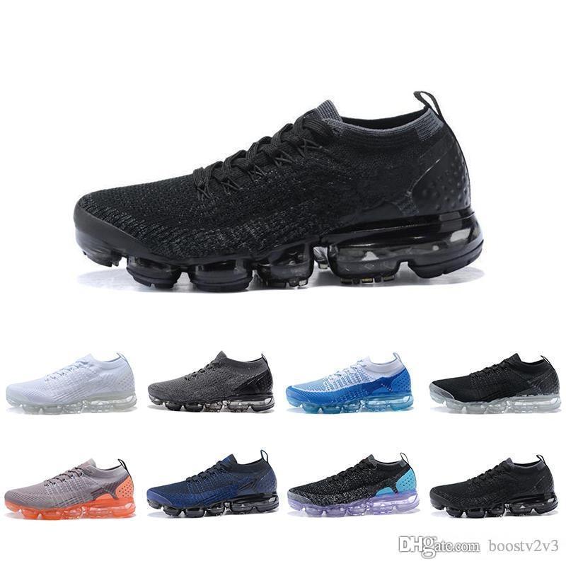 sneakers for cheap 46149 263f7 ... Vapormax 2.0 Chaussures De Course Hommes Femmes Triple S Noir Blanc  Core Crème Choc Jogging Sport Athletic Sneakers Taille 36 45 Nike Air Max  AIRMAX De ...