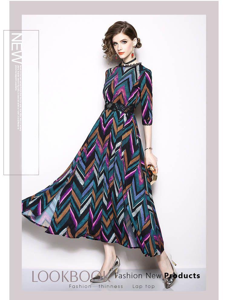 07d7c01d6d2d Autumn   Winter Women S Fashionable Printing Long Dress