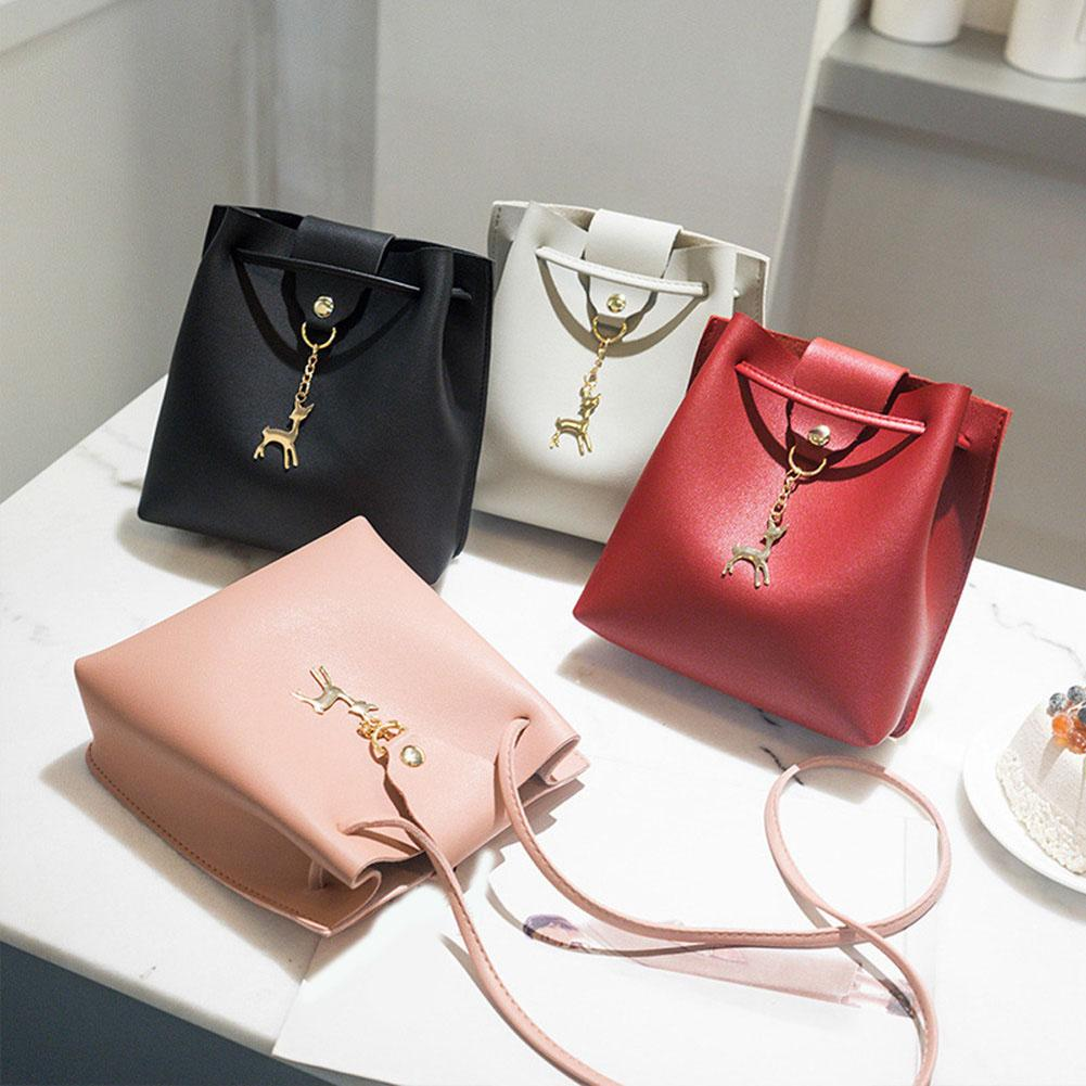 7b22c901c4 2018 New Fashion Women Solid Color Cute Shoulder Bags Ladies PU ...