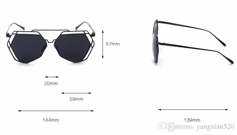 Sunglasses New Fashion Women Mirror Sun Glasses Men Oversize Hollow Metal Steam Punk Shield Goggles Oculos UV400