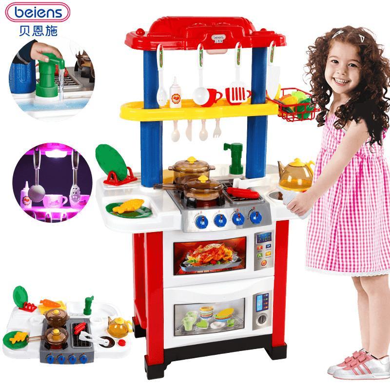 2019 Beiens Brand Toys Children S Play Kitchen Set Kitchen Cooking