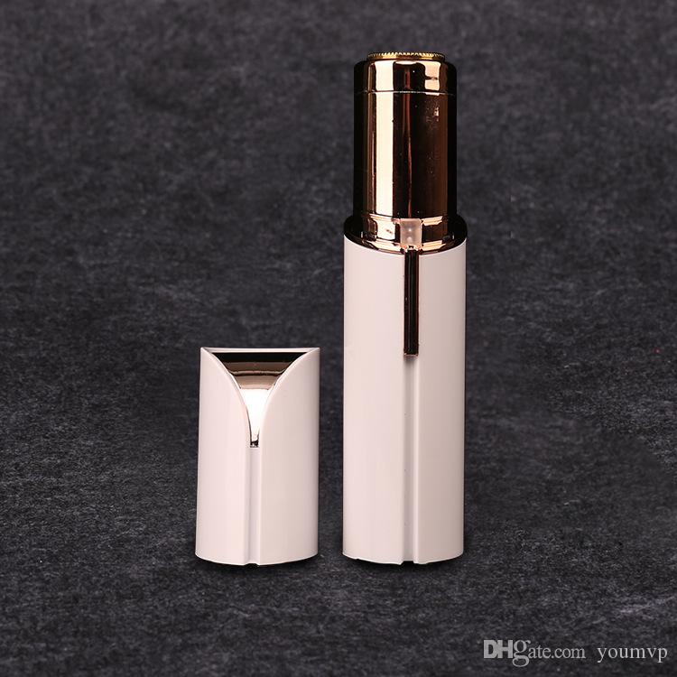 Removedor de vello portátil Cara de la mujer Labio de la mejilla barbilla removedor de pelo Depiladora Depiladora Depiladora de oro de 18 quilates