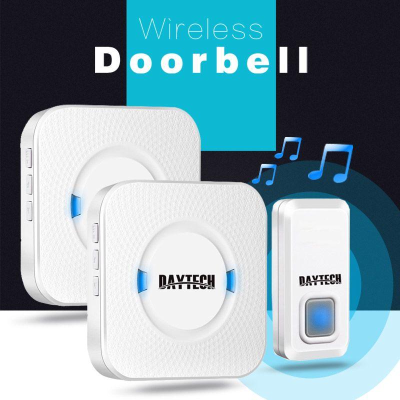 2018 Daytech Waterproof Doorbell Operating At 300m Range With 55 ...