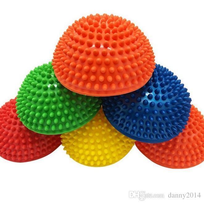Yoga Half Ball Fitnessgeräte Kids Elder Durian Massagematte Ball Übung Balance Point Massage Yoga Pilates Bälle