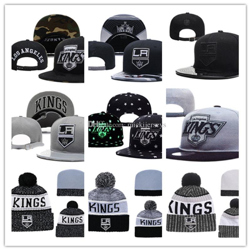 bc07cd86eab 2019 Los Angeles Kings Knit Hat White Grey Red Black Los Angeles Kings  Snapback Caps Adjustable Cap One Size Fit Most From Mickijerseys