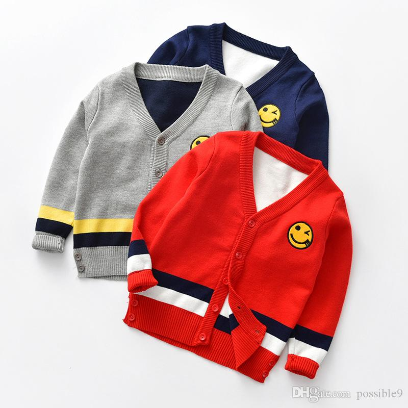 f458cacbb4c1 Can Choose The Color Code In The V Neck Smiley Cardigan Europe And ...