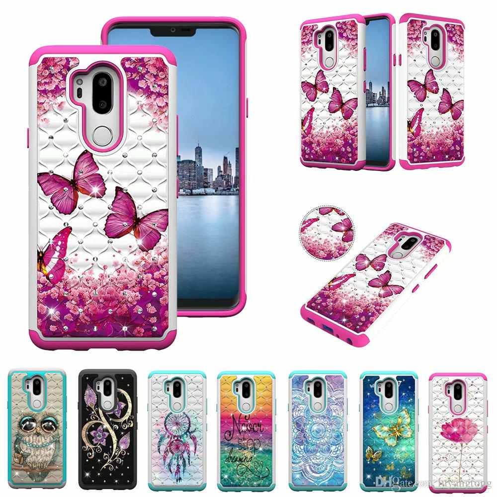 pretty nice f256f 48b8c For LG G 7 ThinQ Case Hybrid Slim Armor Case for LG G7 ThinQ Case Silicone  Hybrid Hard Back Cover G7 Coque
