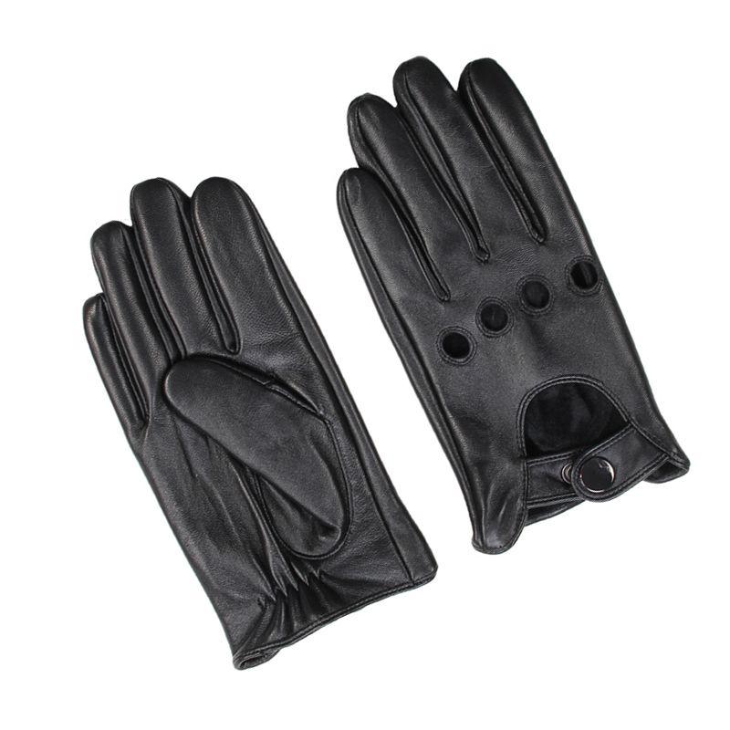 b3b0da561f0 Acheter Nouvelle Arrivée Hommes Gants En Cuir Printemps Automne Haute  Qualité En Cuir Véritable Mode Hommes Noir Conduite Gants Écran Tactile  Mitaines De ...