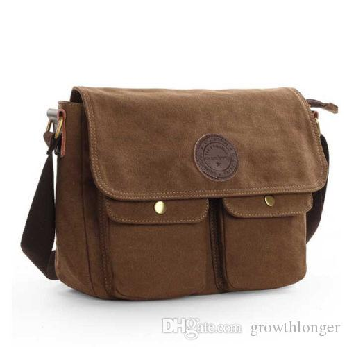 fda560d24fc9 Mens Canvas Messenger Shoulder Bag Cross Body Cycle School Satchel Bags  Vintage Casual Travel Bags Brown Mens Leather Bags Laptop Messenger Bags  From ...