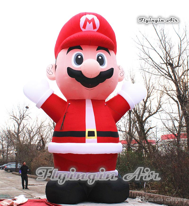 2018 inflatable christmas cartoon character custom 5m height santa blow up super mario for outdoor event decoration from calmwen 87438 dhgatecom - Blow Up Christmas