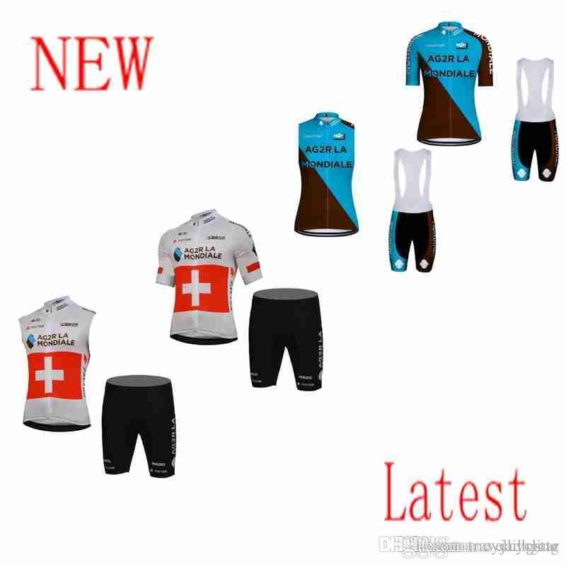 1524e6a89 AG2R 2018 Cycling Jersey Pro Team Short Sleeve MTB Bike Clothing Racing  Bicycle Clothes Coolmax Cycling Pads Maillot Ropa Ciclismo F60201 AG2R  Cycling ...