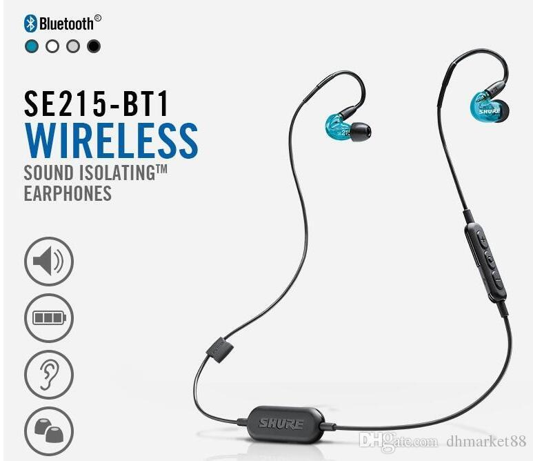 8056a04df03 2019 2018 NEWEST Refurbished Shure SE215 BT1 Wireless Headphones HIFI  Earphones In Ear Noise Cancelling Bluetooth Sports Earbuds DHL FREE From  Dhmarket88, ...