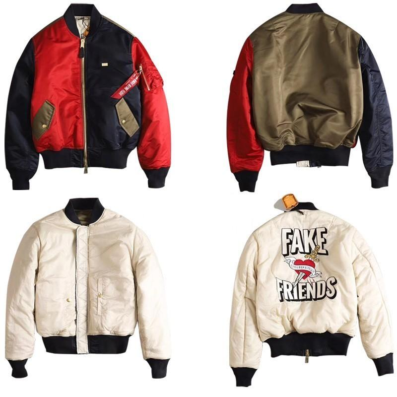 KITH Alpha Industries MA 1 Bomber Jacket Vintage Hip Hop High Street Wear  On Both Sides Comfortable Men And Women Couple Jacket HFSSJK100 Motorcycle  Leather ... a5cff53e5b25