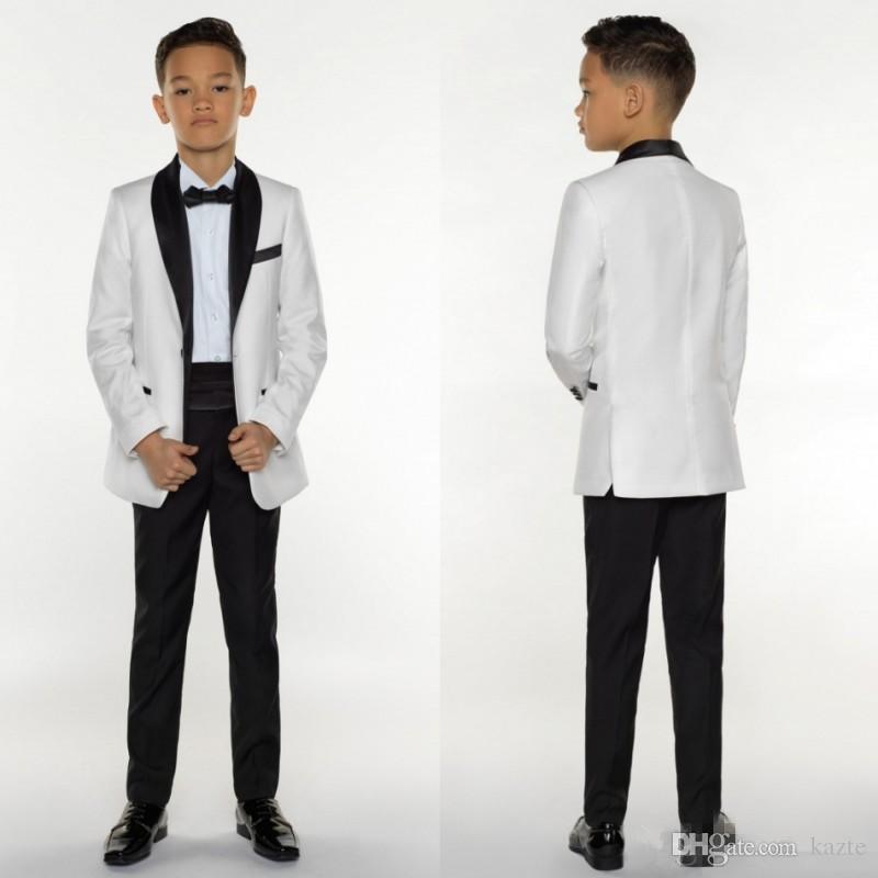 ac13a51ac2336 Satın Al Erkek Smokin Erkek Yemeği Takım Elbise Erkek Resmi Takım Elbise  Çocuklar Için Smokin Smokin Resmi Amaçlar Beyaz Ve Siyah Küçük Erkekler  Için Üç ...