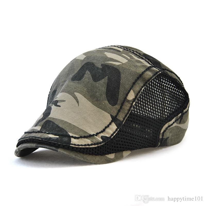 cb863f2fdbc Wholesale Cotton Camouflage Berets Snapbacks Unisex Mesh Autumn Casquette  Baseball Cap Designer Hats Dad Hat Bucket Fitted Hats Berets Online with ...