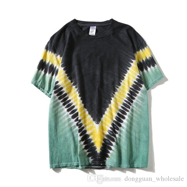 94b7e2c9017 Harajuku Vintage Tie Dye T Shirts Mens Hip Hop Short Sleeve T Shirts Cotton  Top Tees For Couples T Shirs T Shirst From Dongguan wholesale