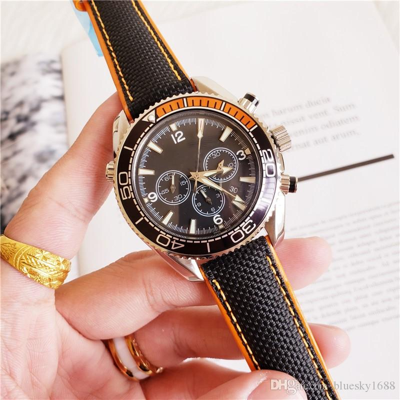 Hot Luxury Mens Reserve Watch black face AAA Automatic Movement Strap Sapphire Wrist Watches Free Shipping