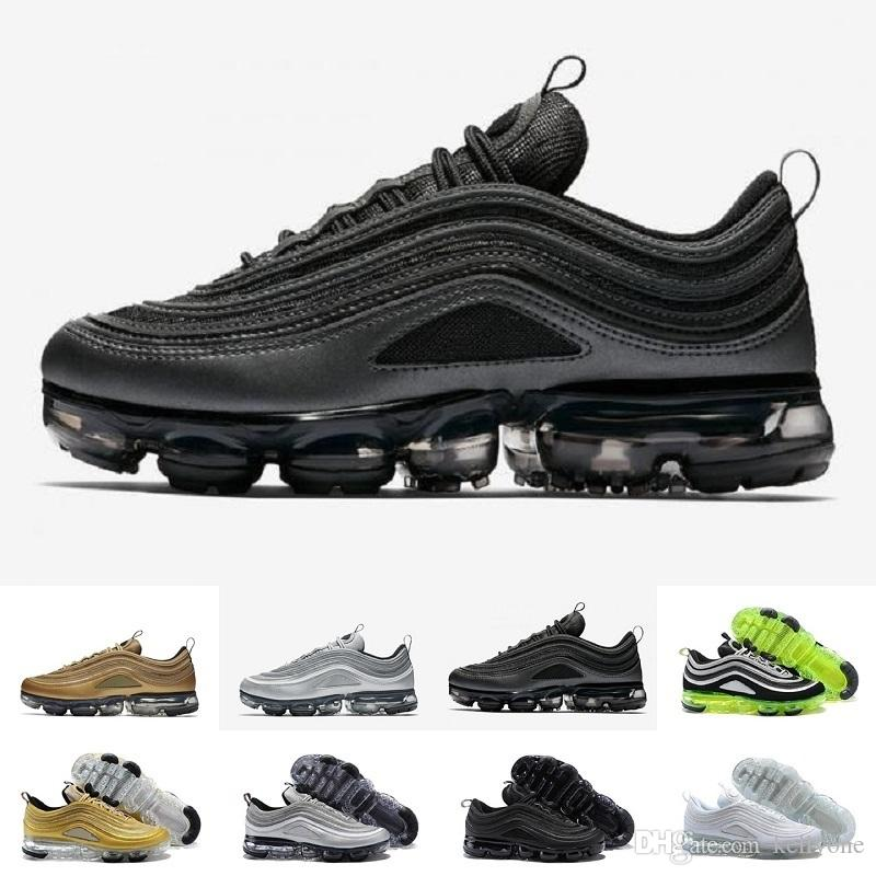 Nike Air Max Zapatillas de running baratas para hombre mujer Plata Japan Oro Bullet Triple Blanco Negro Zapatillas de deporte 97 para hombres Zapatos