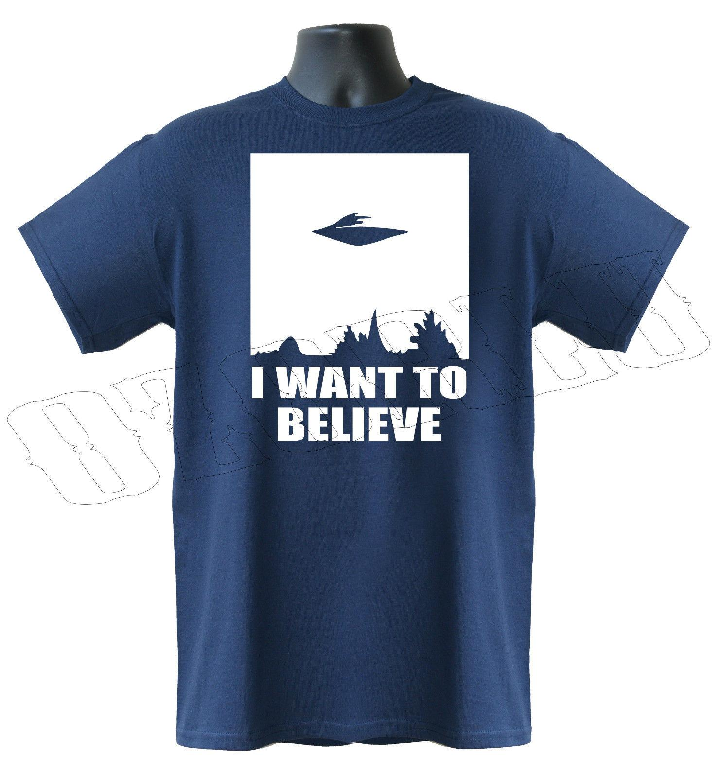 e91a98c3eebeb I Want To Believe Ufo X-Files Sci-Fi Alien Funny Mens T-Shirt S-XXL Online  with $12.99/Piece on Historytreasury's Store | DHgate.com