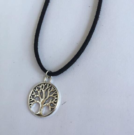 XL 0337 2017 moda velluto albero di vita retrò gotico che desiderano albero pendente gioielli collana femminile clavicola accesso abbigliamento gioielli