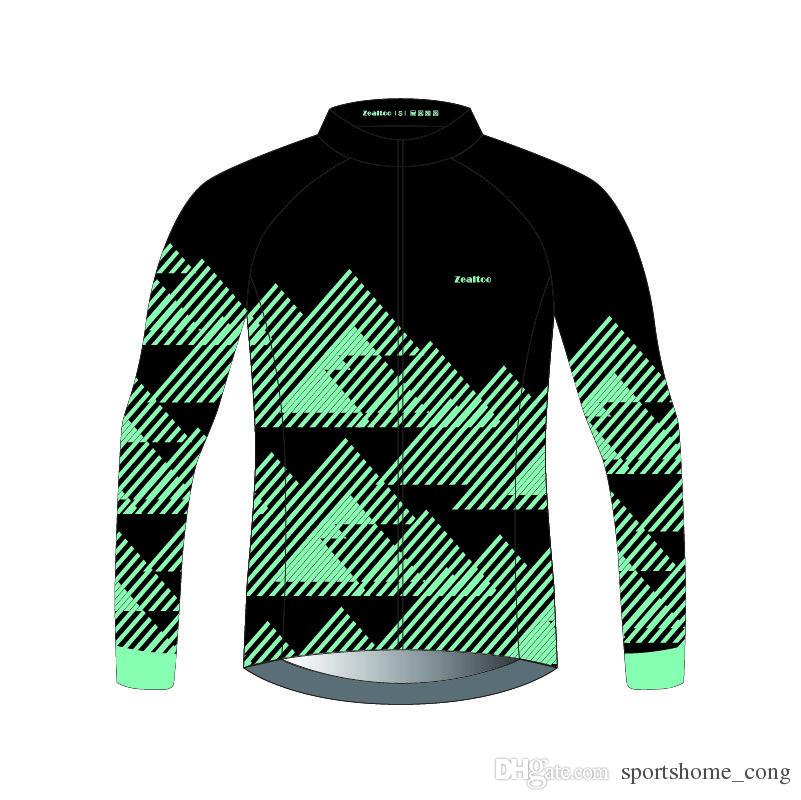137753a56 Zealtoo Custom Thermal Fleece Cycling Jerseys Autumn Winter Warm 2018 Pro  Mtb Long Sleeve Men Bike Wear Spring Summer Cycling Clothing Cycling Cycling  ...