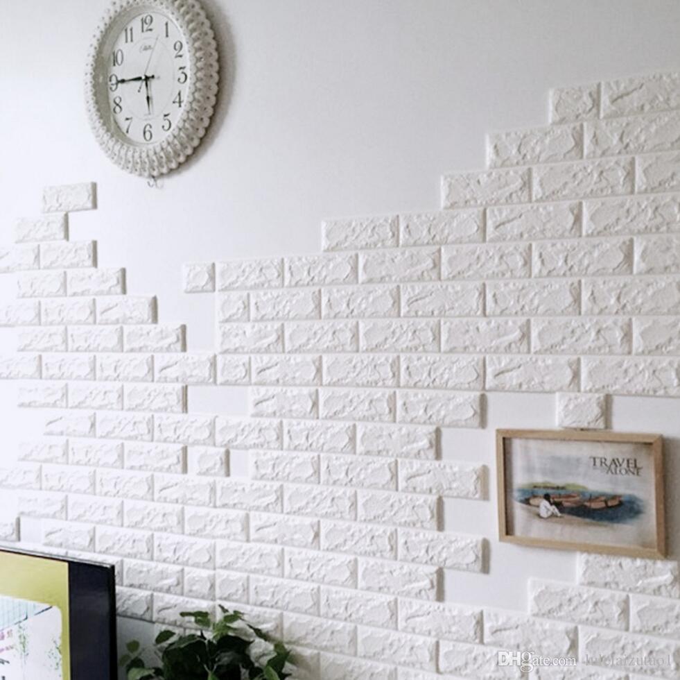 acheter diy auto adh sif 3d stickers muraux chambre d cor mousse brique chambre d cor papier. Black Bedroom Furniture Sets. Home Design Ideas