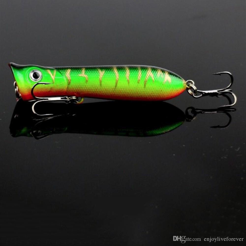 11g 8cm New Big Popper Fishing Lure 3d Eyes Floating Bait Crankbait Wobblers Tackle Isca Artificial Poper Japan Pesca