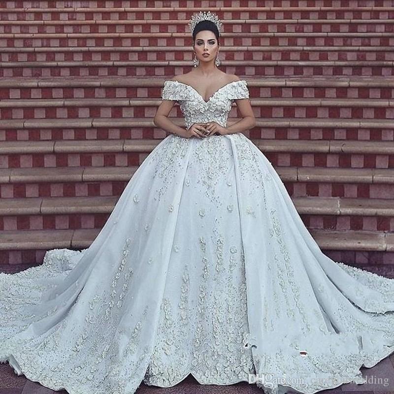 Großhandel Dubai Arabisch Luxus 2018 Spitze Brautkleider ...
