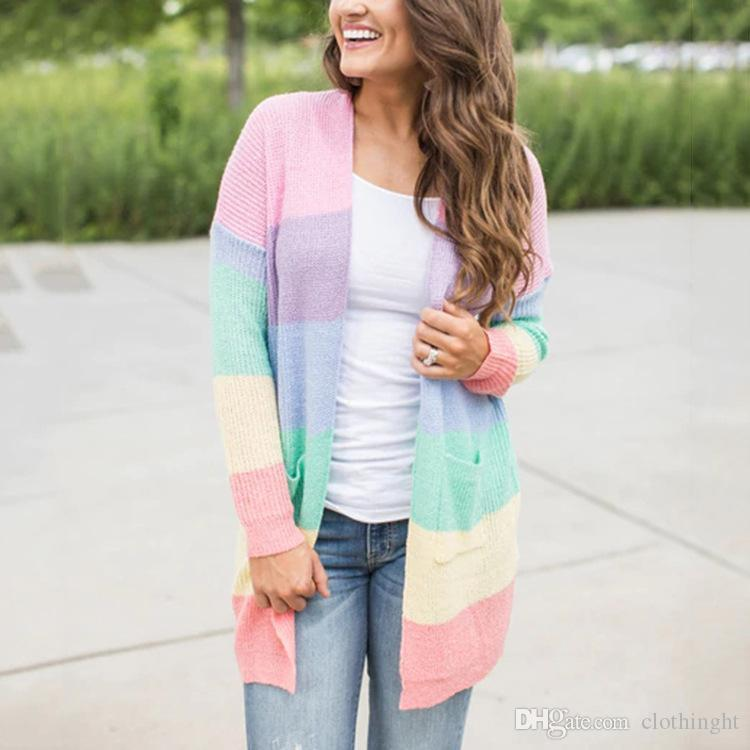 5b34a32ff400 2019 FYW Summer Cardigan Women Menina Long Boho Knitted Striped Cardigans  Feminino 2018 Outwear Long Sleeve Loose Sweater Clothing Be From  Clothinght