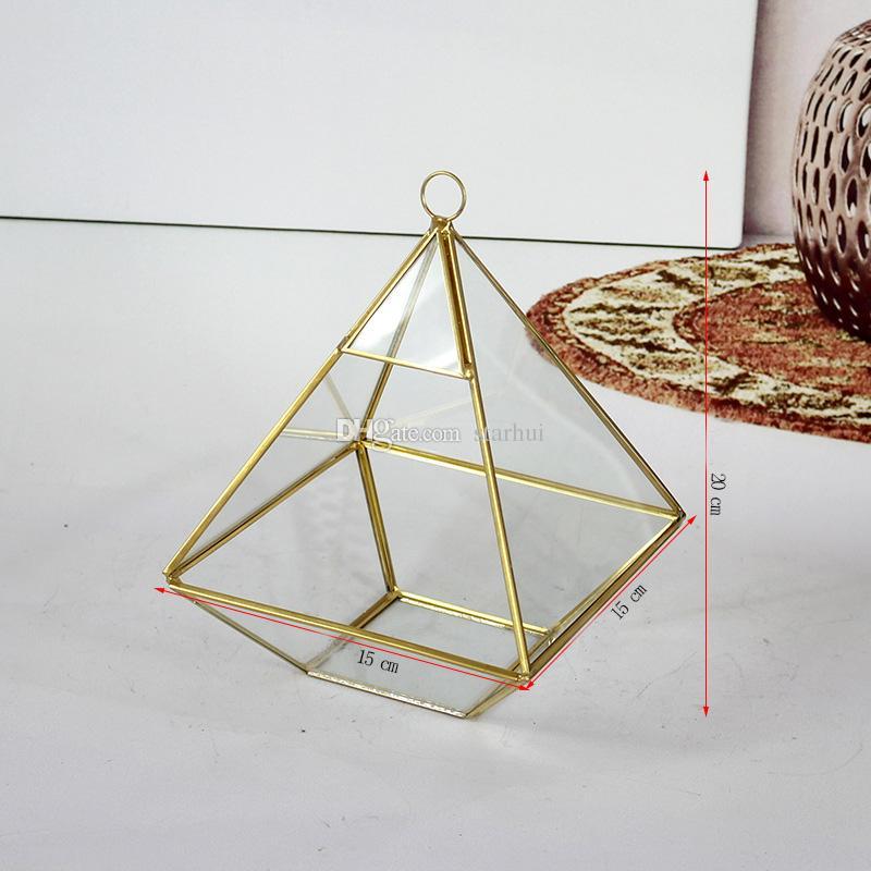 Dhl سفينة مصغرة الزجاج تررم هندسية الماس سطح المكتب حديقة الغراس ل المزهريات البستنة ديكور المنزل WX9-476
