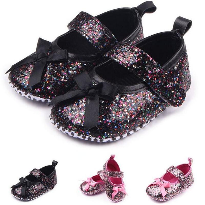 5eef9a6beae6 2019 New Baby Girls Princess Mary Jane Shoes Infant Sweet Bling Soft Sole  Ballet Dress Newborn Kids Crib First Walkers Footwear From Wonderfulss