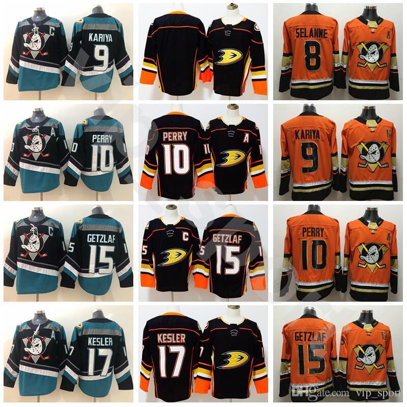 db70d4059 2019 Anaheim Ducks 10 Corey Perry 15 Ryan Getzlaf Jersey Stadium Series  Black Teal Alternate 17 Ryan Kesler 8 Teemu Selanne 9 Paul Kariya From  Vip_sport, ...