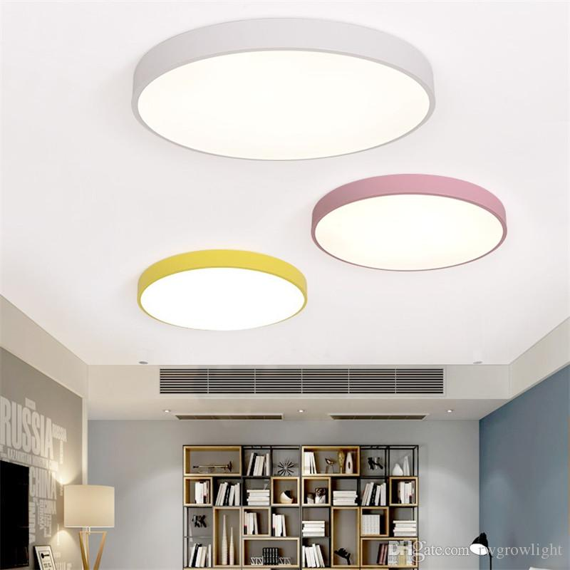 Makrone Led runde deckenleuchte wohnzimmer 5 cm einfache moderne  schlafzimmer lampe restaurant studie gang balkon lampe