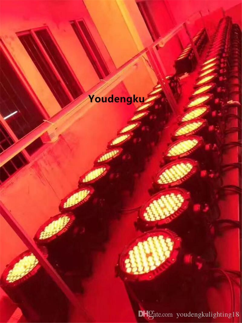 2 шт. IP65 номинальной светодиодный прожектор 54x3 Вт RGBW 4 IN1 светодиодной Par 64 водонепроницаемый светодиодный Par RGBW диско свет