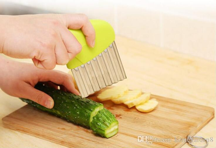 Stainless Steel Potato Slicer Wavy Cutter Multi-function Potato knife Cutters Cut French Fries Kitchen Gadgets Vegetable Tools
