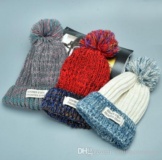 Designer Winter Beanie Pom Knit Sport Rib Beanies Adults Womens Yarn ... ffd1d6b6d4d4