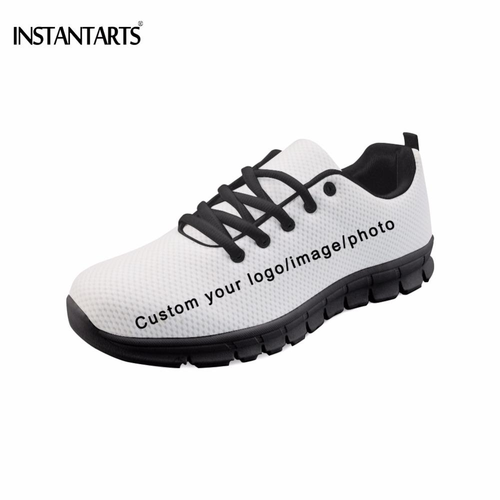 83cf8d136722 INSTANTARTS Customized Your Own Logo Photo Image Pattern Men Flats Shoes  Fashion Brand Diy Your Sneakers Black Bottom Footwear Gold Shoes Mens  Casual Shoes ...