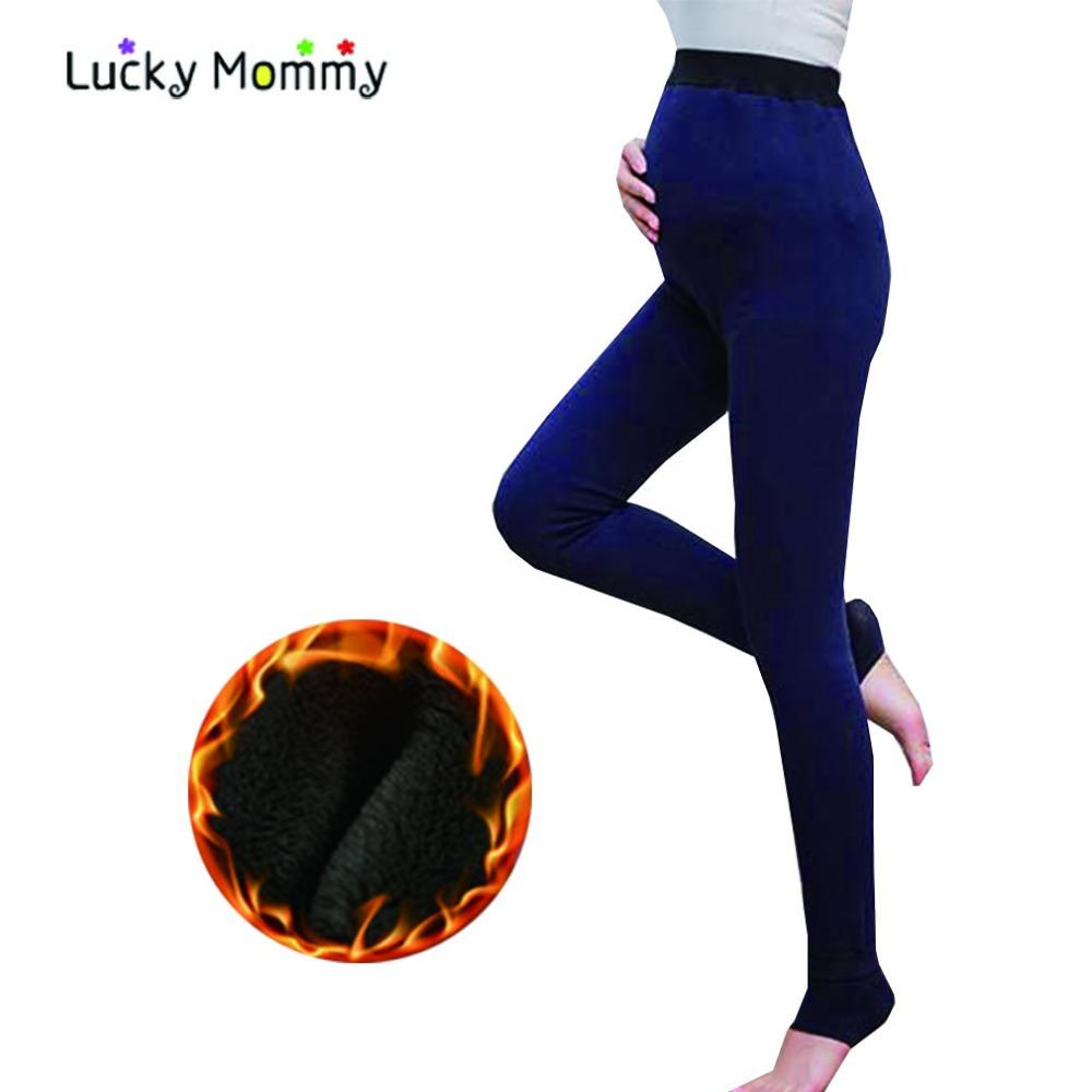 12765d6195d Maternity Leggings High Waist Winter Warm Pregnancy Clothes for ...