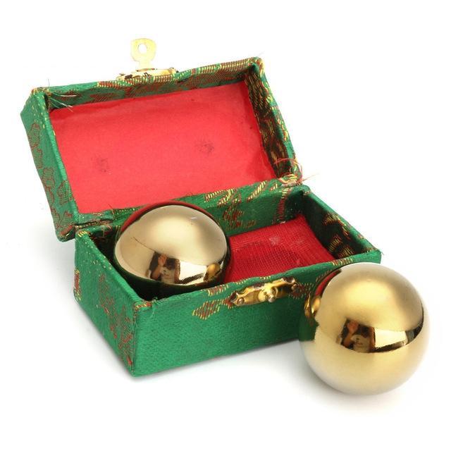 Hand Massage Acupressure Balls Gold High Quality Materials Health & Beauty