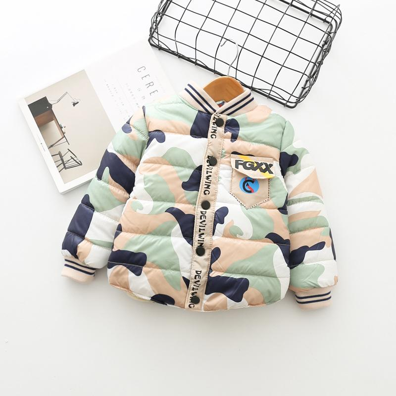 19dddfb58 Boy Clothes Camouflage Hooded Winter Kids Down Jacket Clothes Warm ...