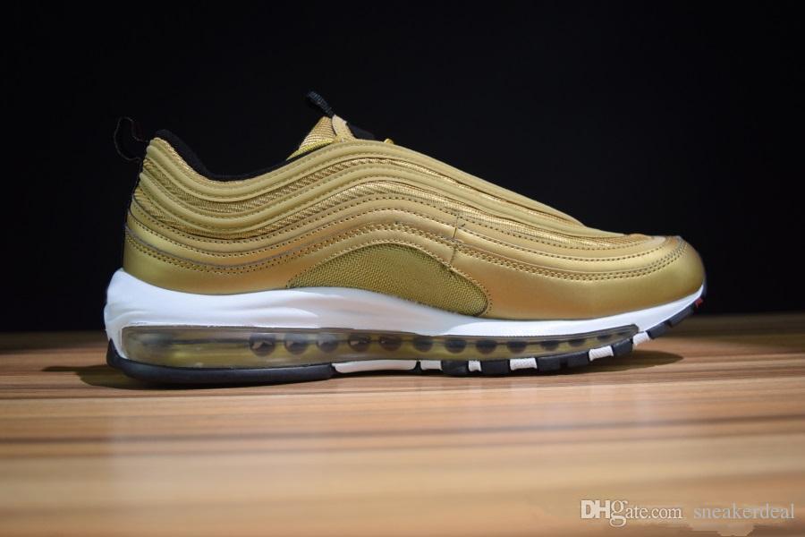 New 97 Undefeated Metallic Gold Silver Bullet 20 Anniversary Donna Uomo Designer Running Scarpe da ginnastica scarpe da ginnastica