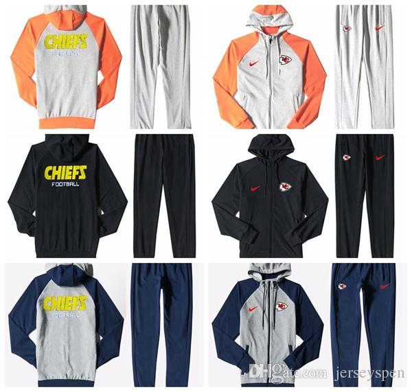finest selection 42769 d0419 Kansas City Chiefs Men S Print Full Zip Sports wear Men S Sport Suit  Bodysuit Plus Pantsuit Blue Ash Black Orange white splicing
