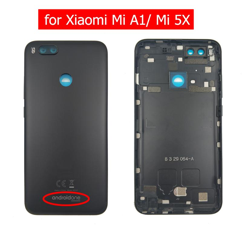 outlet store 011fa ef842 Original for Xiaomi Mi A1 Battery Back Cover Rear Housing Metal Door for  Xiaomi Mi 5X Camera Glass Lens Android One Repair Parts
