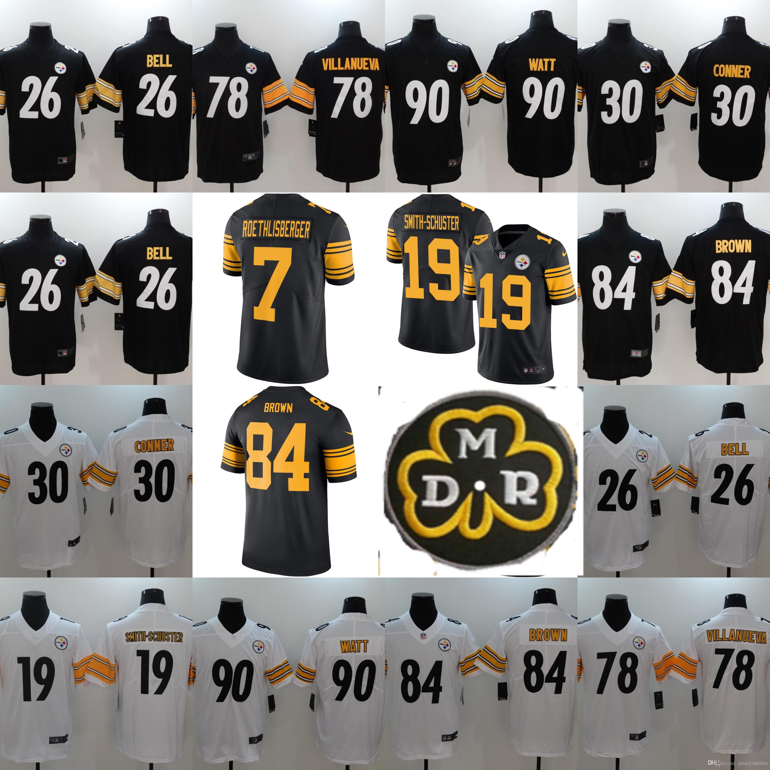 cheap for discount 86f7a b1cbc 36 Jerome Bettis Jersey 19 Smith-Schuster 84 Antonio Brown Steelers Ryan  Shazier 43 Troy Polamalu Bradshaw Harrison Harris Greene 01