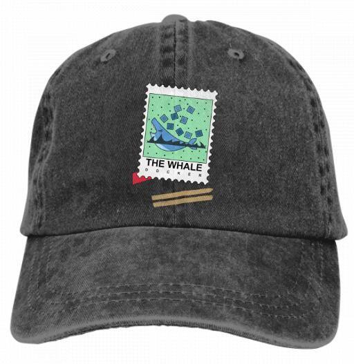 ab61d3217d675 DOCKER LOGO The Whale Vintage Classic Unisex Baseball Cap Adjustable ...