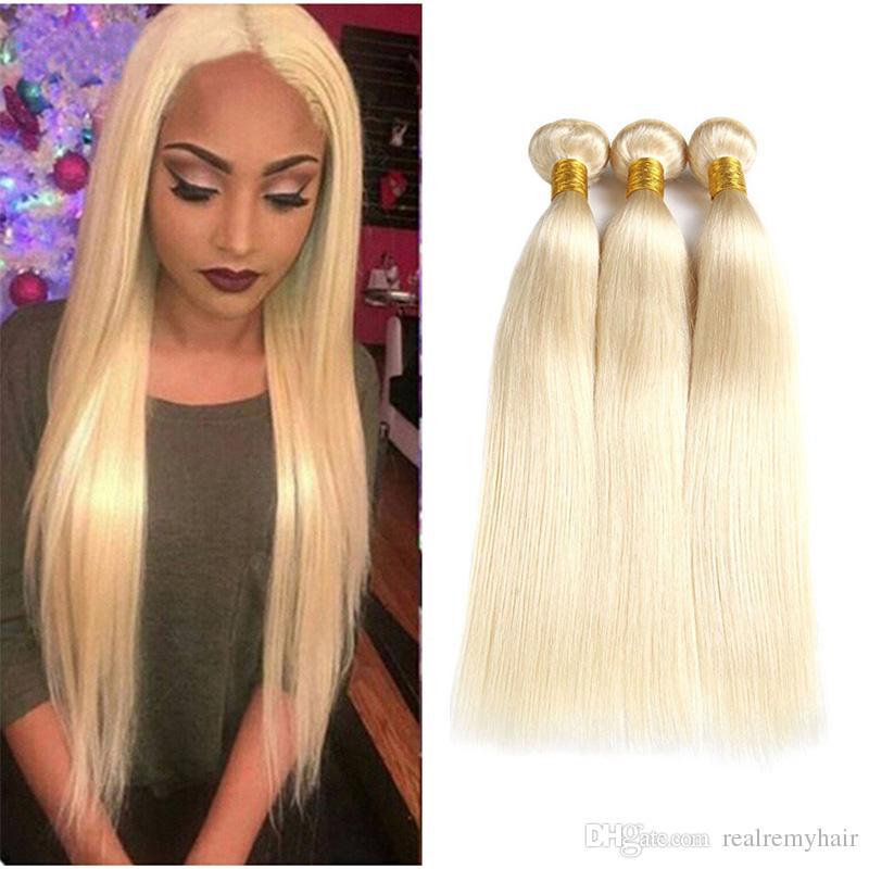 New Arrive Brazilian Honey Blonde Human Hair Bundles 613 Colored