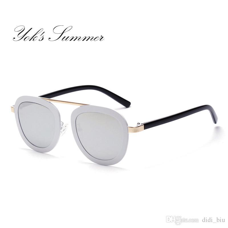 375bff320b1 Yok S Summer Vintage Sunglasses Women Cat Eye Plastic Optical Glasses Frame  Ladies Flat Top Sun Glasses Mirror Lens Shades WN096 Knockaround Sunglasses  ...