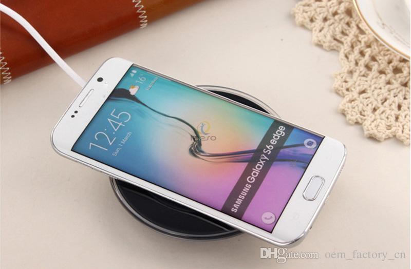Cargador inalámbrico rápido Qi Adaptador de carga rápida para Samsung Galaxy S10e S10 S9 S8 S7 S6 S6 Note8 Todos los dispositivos compatibles con Qi