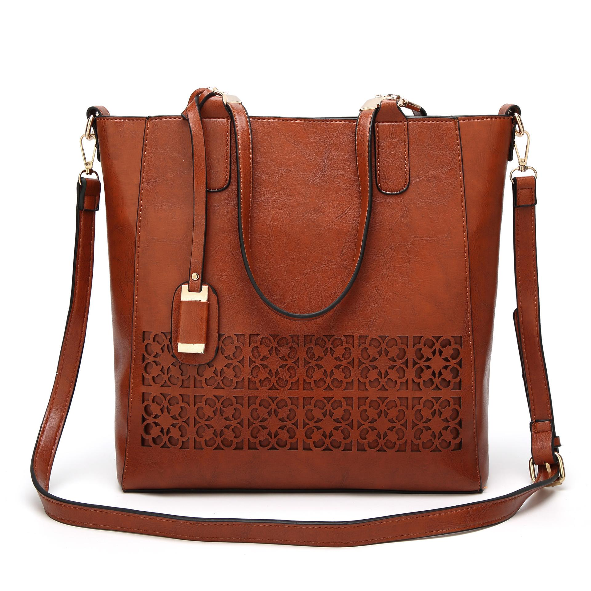 New Female Bag Europe And The United States Cross Border Hollow Out Female  Bag Fashion Laptop Handbag Single Shoulder Bag Weekend Bags Luxury Bags  From ... 328a9ed5e81ed