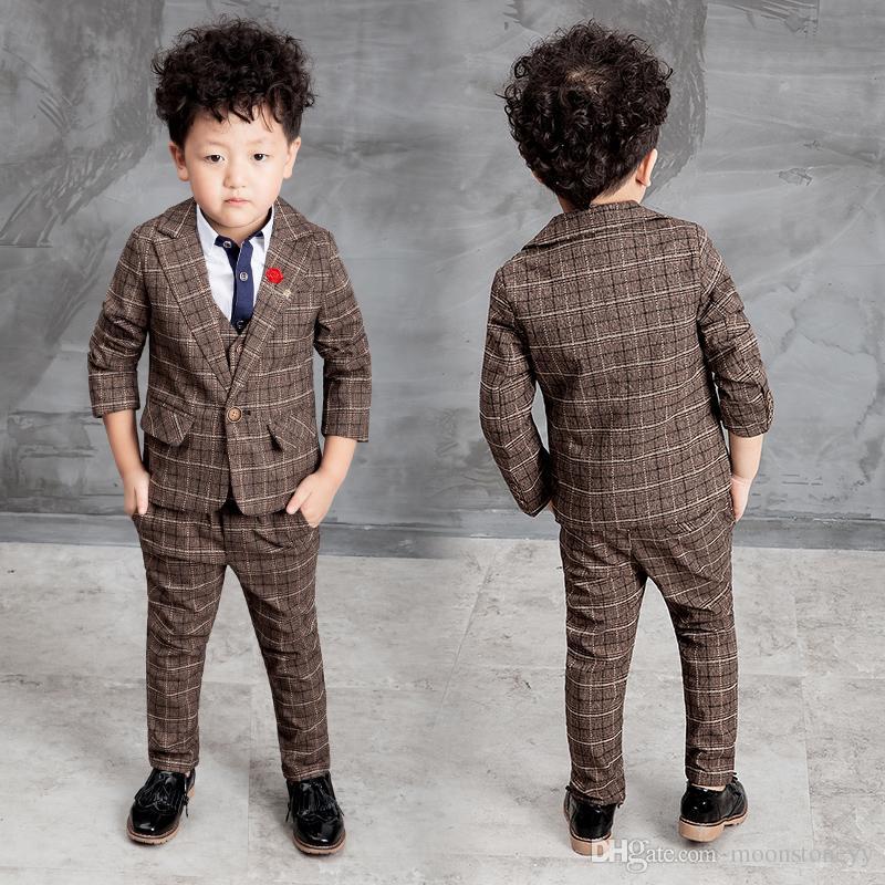 4665797f7ada New Children Suit Baby Boys Suits Kids Blazer Boys Formal Suit For Weddings  Boys Clothes Set Jackets+Vest+Pants 3pcs 2-10Yv